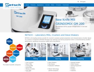 retsch.com screenshot