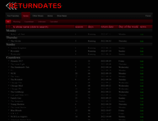 returndates.com screenshot
