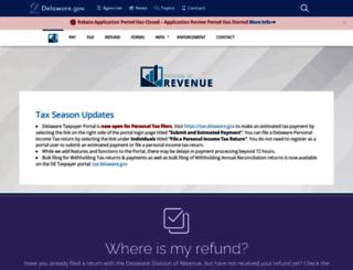 revenue.delaware.gov screenshot