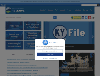 revenue.ky.gov screenshot