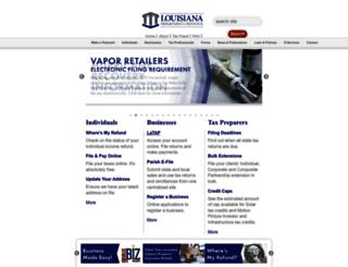 revenue.louisiana.gov screenshot
