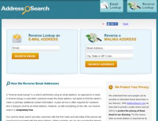 reverse.addresssearch.com screenshot