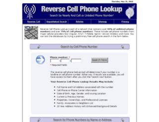 reversecellphonelookup.biz screenshot