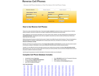 reversecellphones.com screenshot