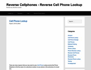 reversecellphones.org screenshot