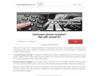 reversejusphone.com screenshot