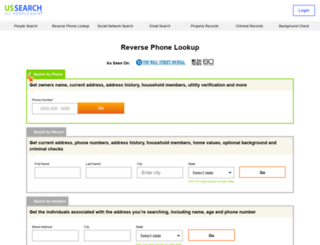 reversephonedirectory.com screenshot