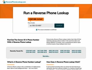 reversephonelookup.com screenshot
