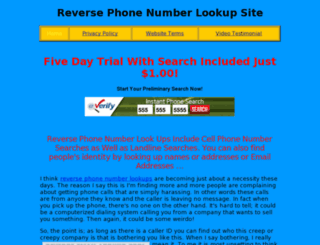 reversephonenumberlookupsite.com screenshot