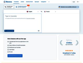 reverso.softissimo.com screenshot