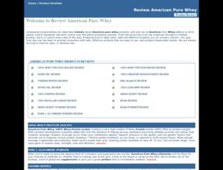 reviewamericanpurewhey.com screenshot