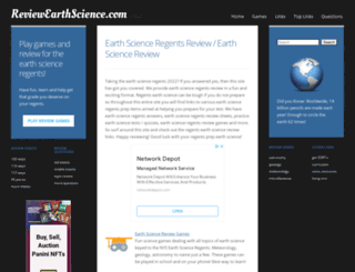reviewearthscience.com screenshot