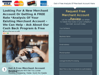 reviewmerchantaccount.instapage.com screenshot