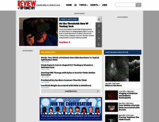 reviewofoptometry.com screenshot