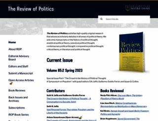 reviewofpolitics.nd.edu screenshot