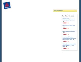 reviews.avery.com screenshot