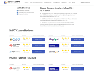 reviews.beatthegmat.com screenshot
