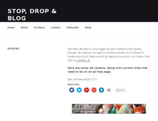 reviews.stopdropandblog.com screenshot