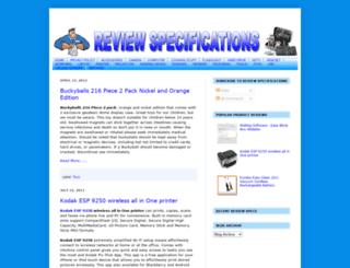 reviewspecifications.blogspot.com screenshot