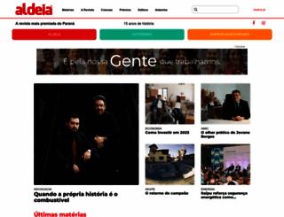 revistaaldeia.com.br screenshot