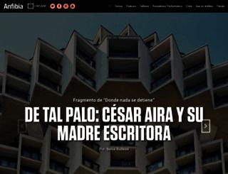 revistaanfibia.com screenshot