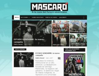 revistamascaro.org screenshot