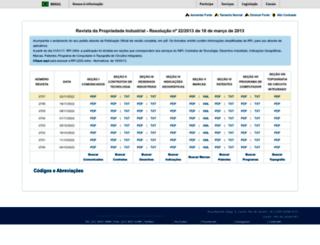 revistas.inpi.gov.br screenshot