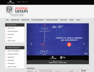 revistas.unam.mx screenshot