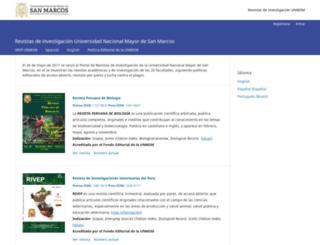 revistasinvestigacion.unmsm.edu.pe screenshot