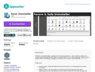 revo-uninstaller.theappcenter.com screenshot