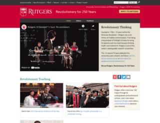 revolutionary.rutgers.edu screenshot
