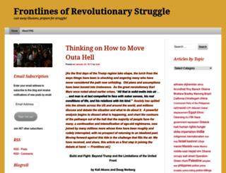 revolutionaryfrontlines.wordpress.com screenshot
