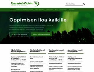 revontuliopisto.fi screenshot