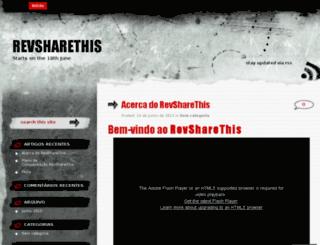 revsharethis.wordpress.com screenshot