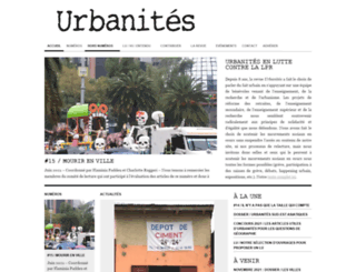 revue-urbanites.fr screenshot