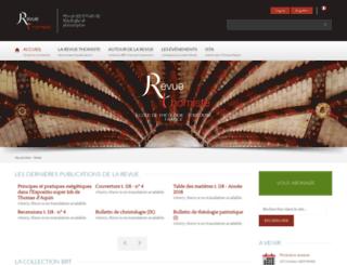 revuethomiste.dominicains.com screenshot