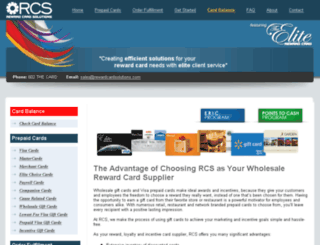 rewardcardsolutions.com screenshot