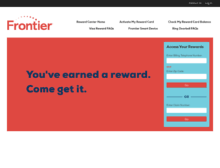rewardcenter.frontier.com screenshot