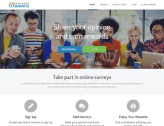 rewarded-surveys.co.uk screenshot