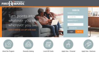 rewards.firstinterstatebank.com screenshot
