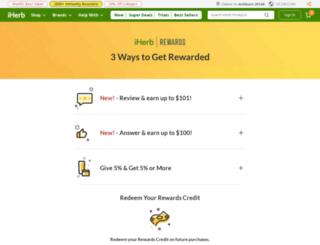 rewards.iherb.com screenshot