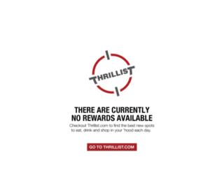 rewards.thrillist.com screenshot