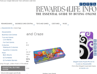 rewards4life.info screenshot
