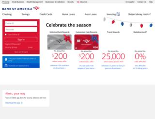 rewardsshoppingmall.bankofamerica.com screenshot