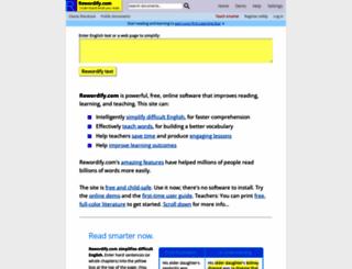 rewordify.com screenshot