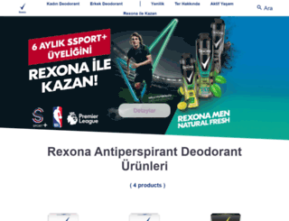rexona.com.tr screenshot