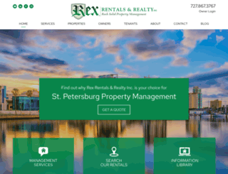 rexrentals.com screenshot