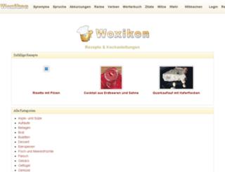 rezepte.woxikon.de screenshot