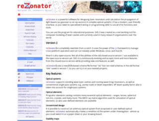 rezonator.orion-project.org screenshot