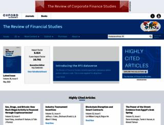 rfs.oxfordjournals.org screenshot